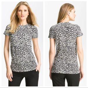 Theory Johnna Rainforest Animal T-Shirt Size Large